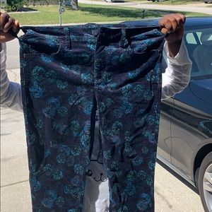 Anthropology script pants size 28